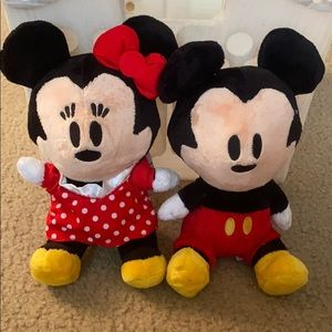 Disney Mickey and Minnie stuff animals